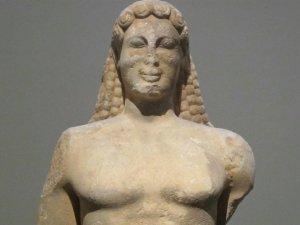Λεπτομέρεια από το άγαλμα 'Ο Κούρος της Κεας'