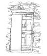 Αποτύπωση παλιάς πόρτας καθοικιάς Κέας